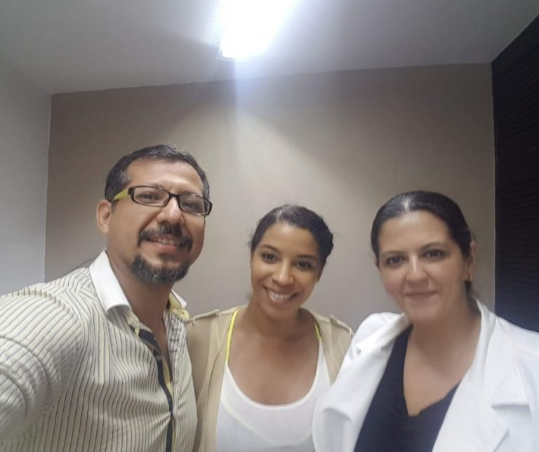 Breast Lift patient and doctors in Cancun Blue Medical Services